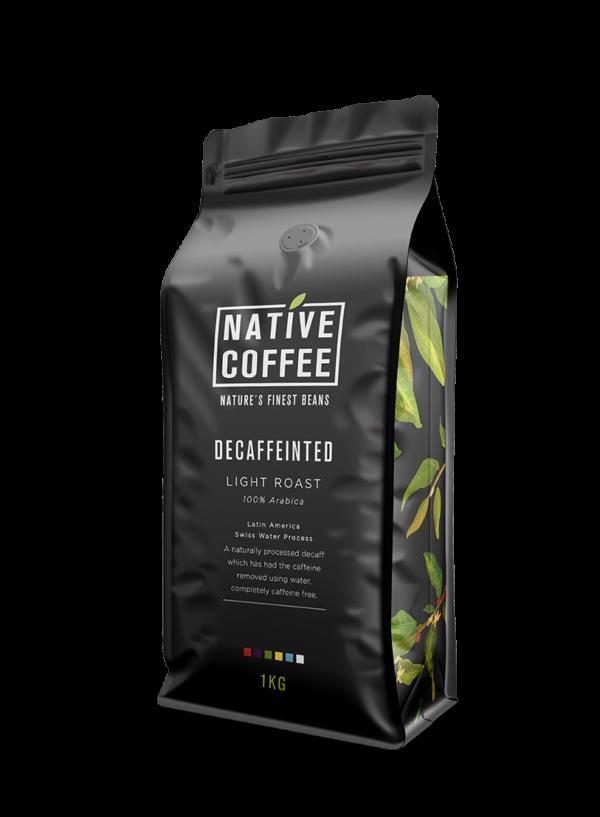 Native Decaffeinated Fairtrade Organic Coffee Beans 1KG 7