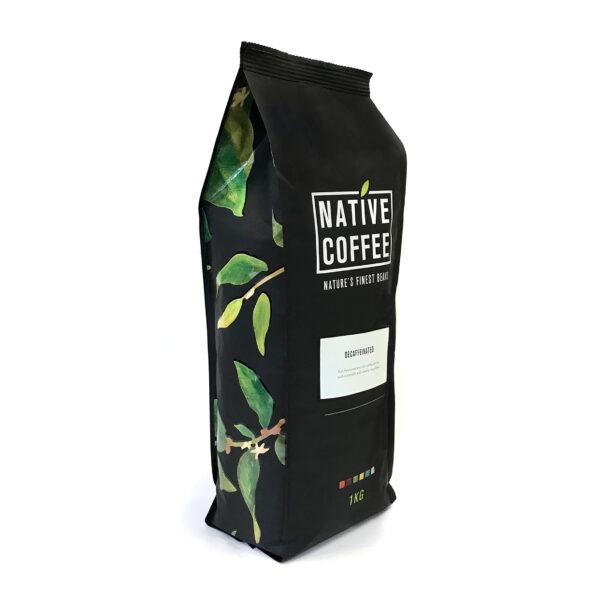 Native Decaffeinated Fairtrade Organic Coffee Beans 1KG 10