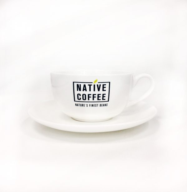 Native Coffee Cappuccino Cups & Saucers 4