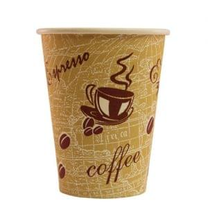 8oz Single Wall Red Bean Paper Cup x 1000 1