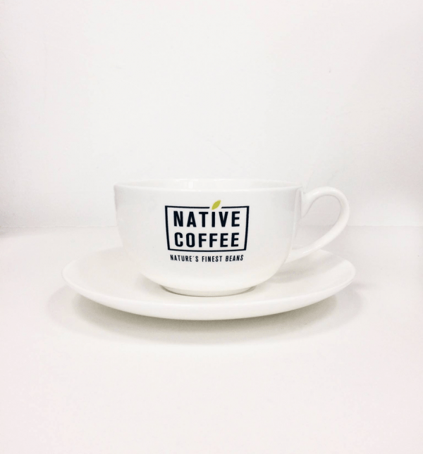Native Coffee Cappuccino Cups & Saucers 2