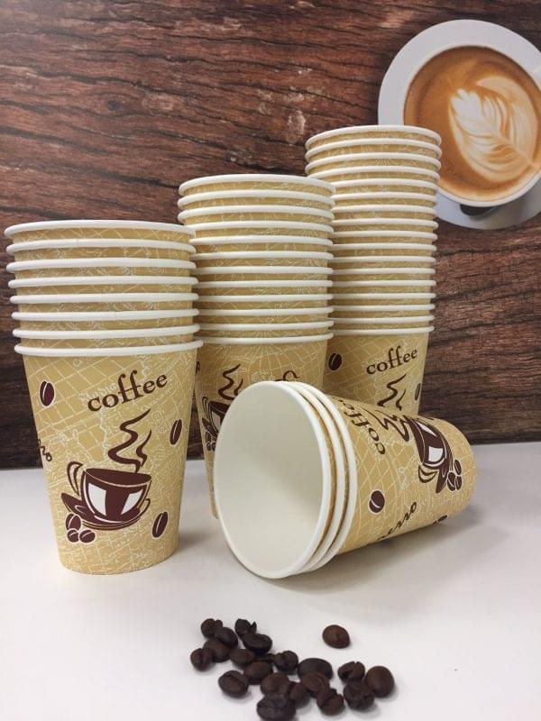 12oz Single Wall Red Bean Paper Cups  x 1000 1