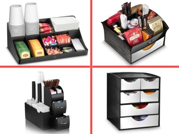 Desktop Storage Station for Coffee & Tea 2 + 2 Drawers