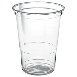 Plastic Cups & Lids 12oz / 340ml  -  Pack of 1000