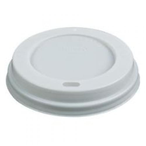 12oz/16oz White Sip Thru Takeaway Cup Lids x 1000 1