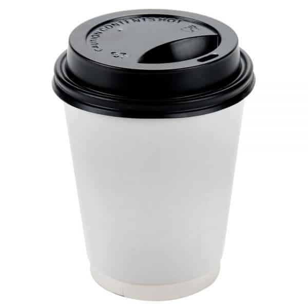 8oz Black Sip Thru Disposable Lids x 1000 1