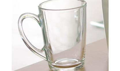 Glass Latte Coffee Cup 1