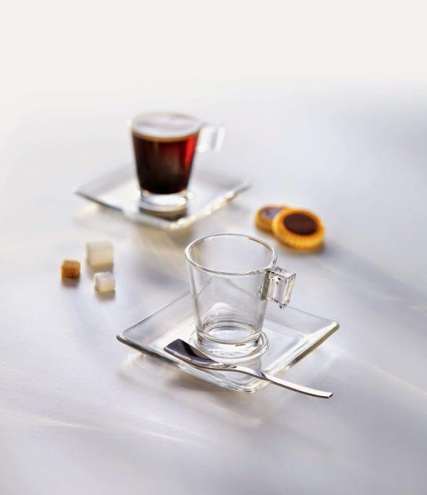 Aroma Espresso Glass Cup & Saucer x 12 1