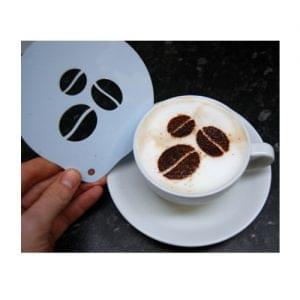Coffee Beans Chocolate Sprinkle Stencil 1
