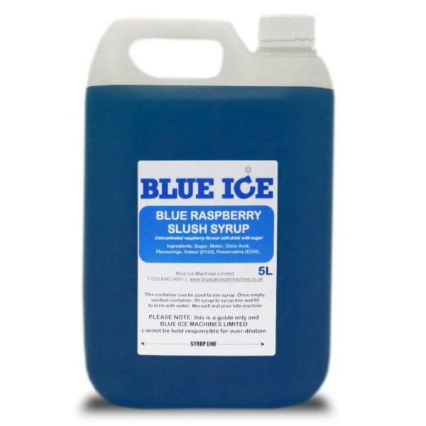 Blue Raspberry Flavoured Slush Syrup 5L 1