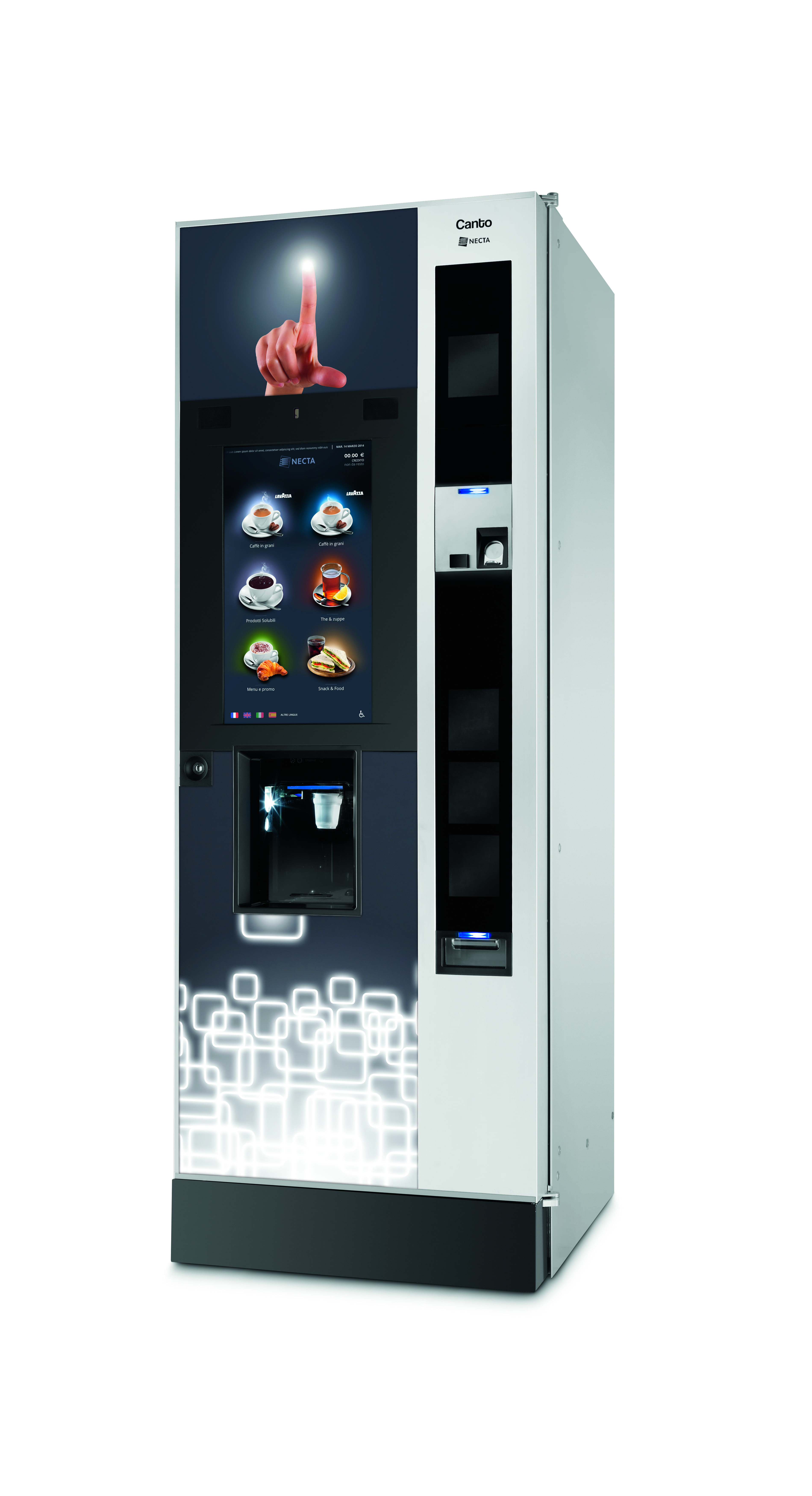 canto touch vending machine. Black Bedroom Furniture Sets. Home Design Ideas