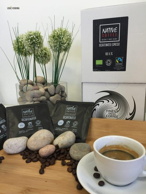Native Decaffeinated Fairtrade Organic Coffee Ground 100 sachets x 7G 1