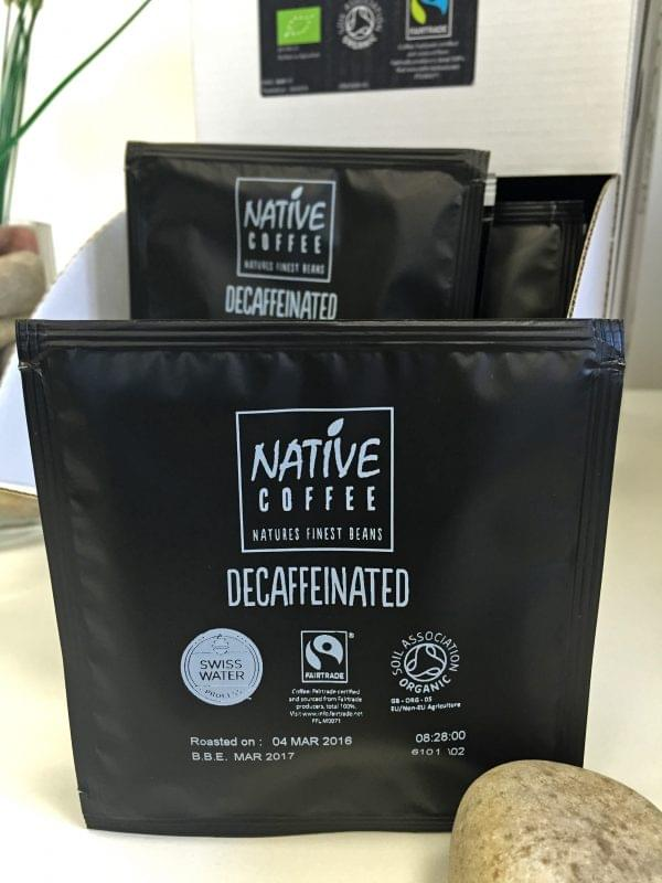 Native Decaffeinated Fairtrade Organic Coffee Ground 100 sachets x 7G 5