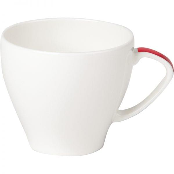 Royal Porcelain Maxadura Edge Red Handle Cups 200ml