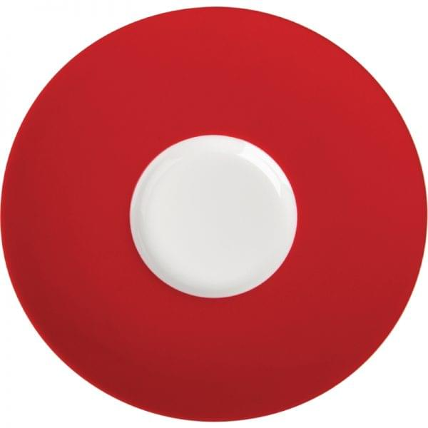 Royal Porcelain Maxadura Edge Red Reammed Saucers 145mm