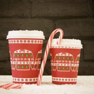 Xmas Takeaway Cups 8oz/230ml  x 1000 1