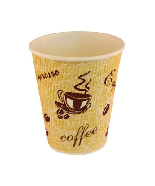 12oz Red Bean Ripple Wall Takeaway Cup x 500 1