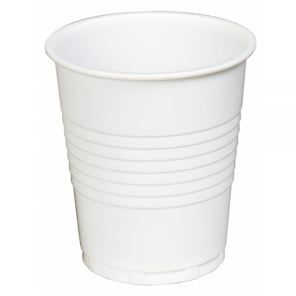 7oz White Squat Vending Plastic Cups x 2000 1