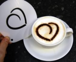Swirly Heart Chocolate Sprinkle Stencil 1