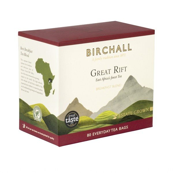 Birchall Great Rift Breakfast Blend x 80 Prism Tea Bags 2