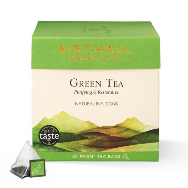 Birchall Green Tea - 80 x Prism Tea Bags