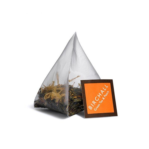Birchall Green Tea & Peach - 15 x Prism Tea Bags 3