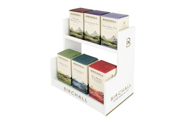 Birchall White Wood Tea Stand