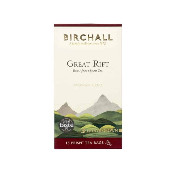 Birchall Great Rift Breakfast Blend - 15 x Prism Tea Bags