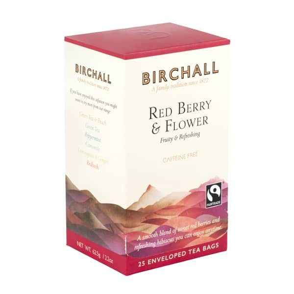 Birchall Red Berry & Flower - 25 x Enveloped Tea Bags