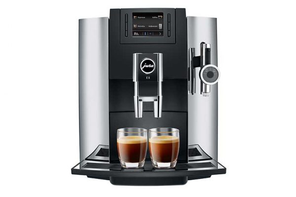Jura E8 Home Bean to Cup Coffee Machine Chrome 7