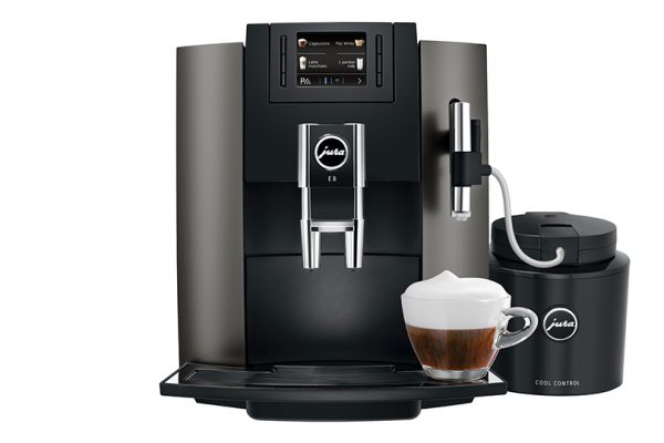 Jura E8 Home Bean to Cup Coffee Machine Dark Inox
