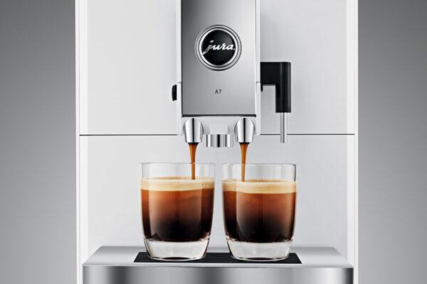 Jura ENA A7 Piano White Bean to Cup Coffee Machine 4