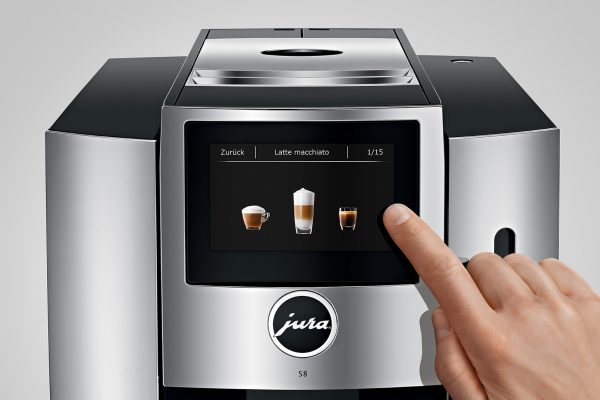Jura S8 Chrome Bean to Cup Home Coffee Machine 7