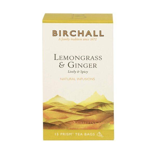 Birchall Lemongrass & Ginger Tea - 15 x Prism Tea Bags 1