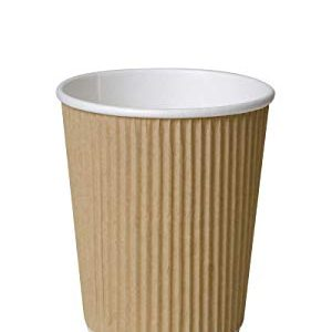 8oz Kraft Ripple Wall Paper Cups  x 500