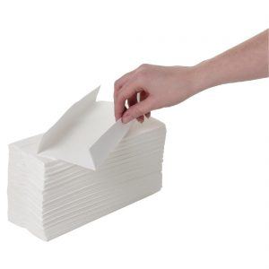 Fold Paper Hand Towels White 2-Ply 160 Sheets (Pack of 15)