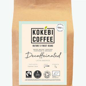 Kokebi Decaffeinated Fairtrade Organic Coffee Beans 250g 1