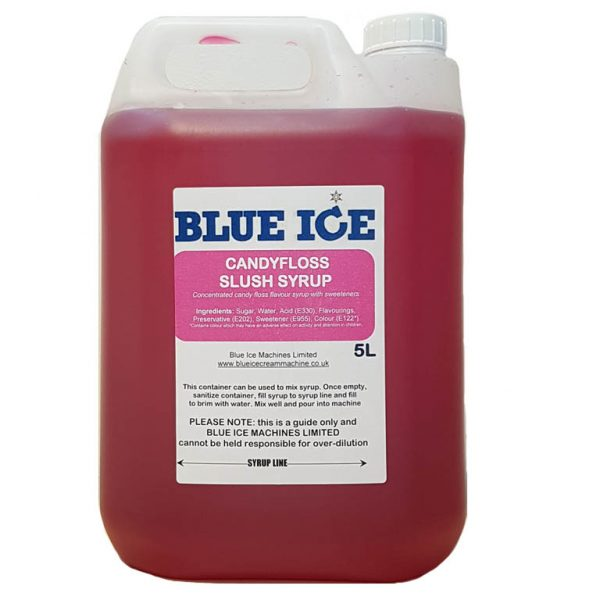 Candy Floss Flavoured Slush Syrup 5L 1