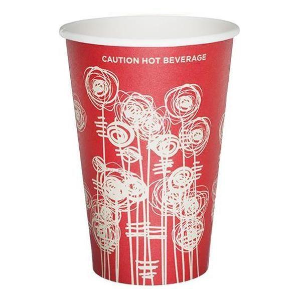 12oz Swirl Design Paper Vending Cups X 1000