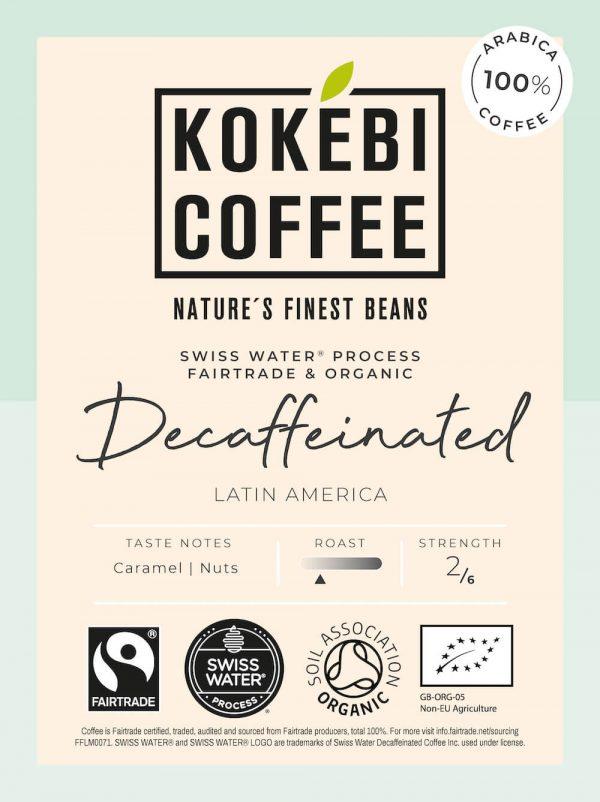 Kokebi Coffee Decaffeinated Coffee Beans 1KG 1